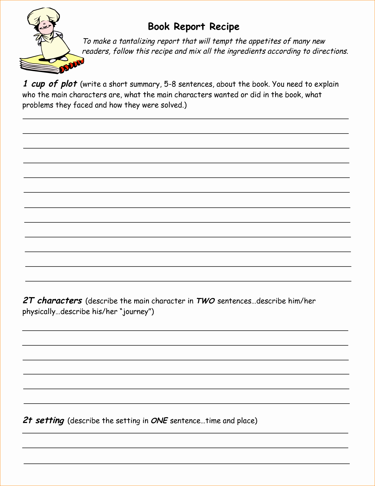 Free Recipe Book Template Lovely Free Book Report Templates Bamboodownunder