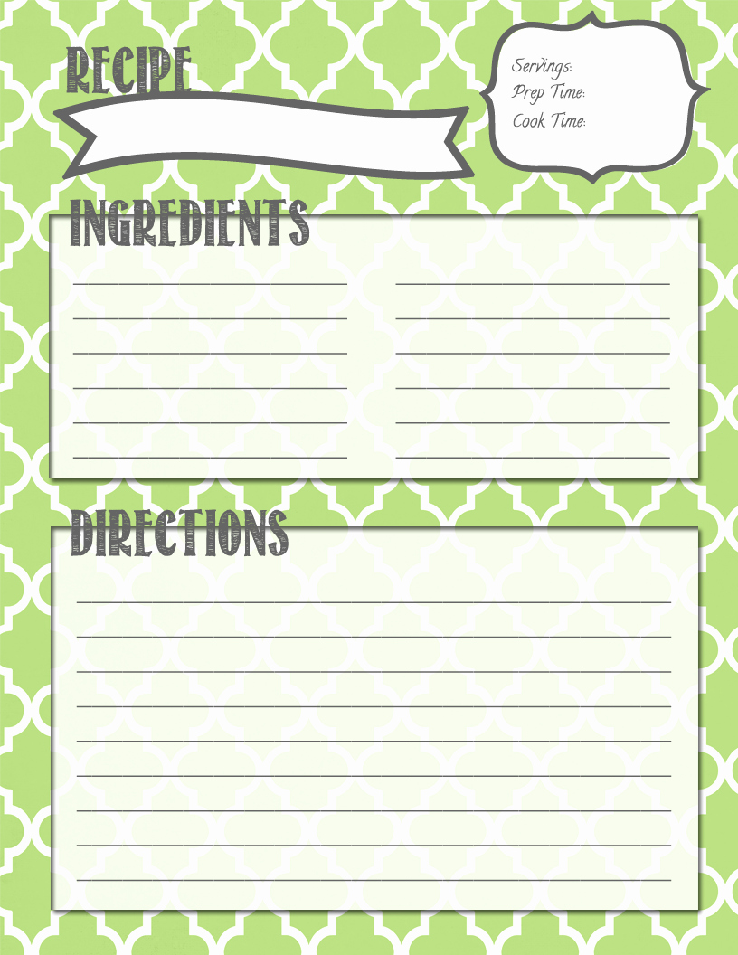 Free Recipe Book Template New Making It In the Mitten Recipe Binder Printables