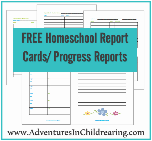 Free Report Card Template Lovely Free Homeschool Printable Progress Report and Report Card