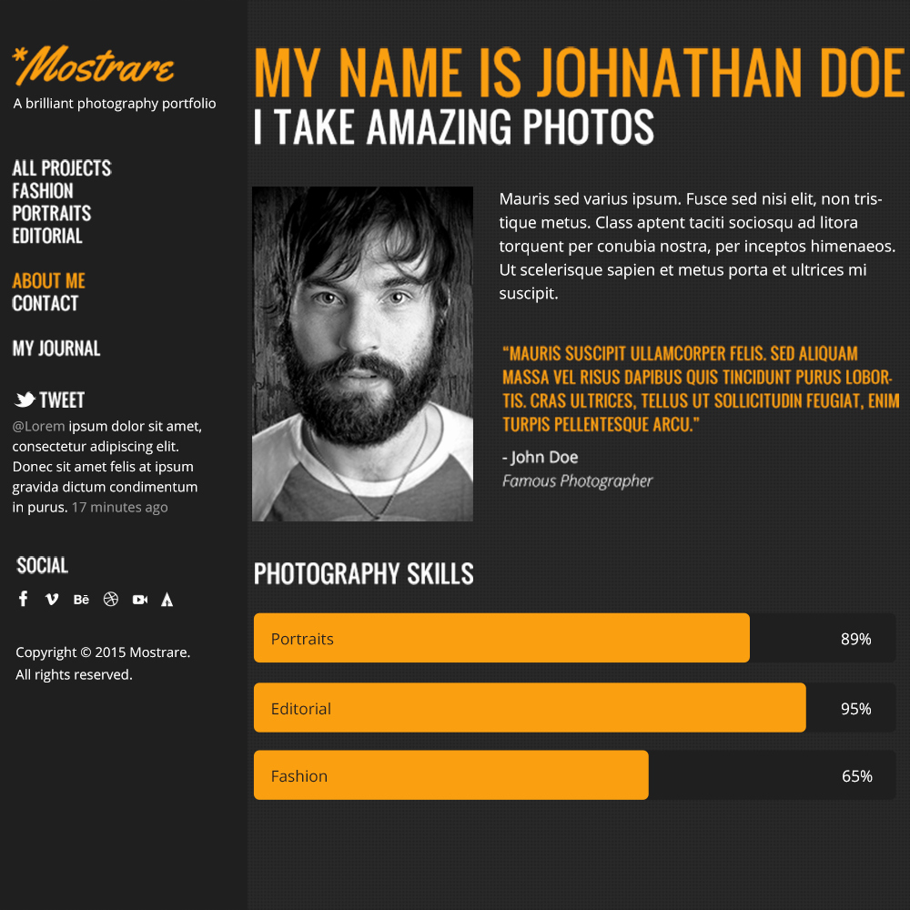 Free Resume Website Template Awesome Free Psd Portfolio and Resume Website Templates In 2018