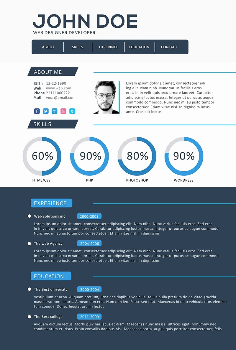Free Resume Website Template Awesome Front End Web Developer Resume Template