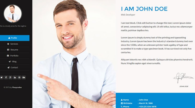 Free Resume Website Template Beautiful 45 Best HTML Resume Cv Vcard Templates Free & Premium