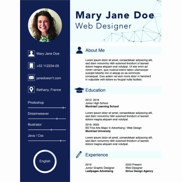 Free Resume Website Template Beautiful 68 Cv Templates Pdf Doc Psd Ai