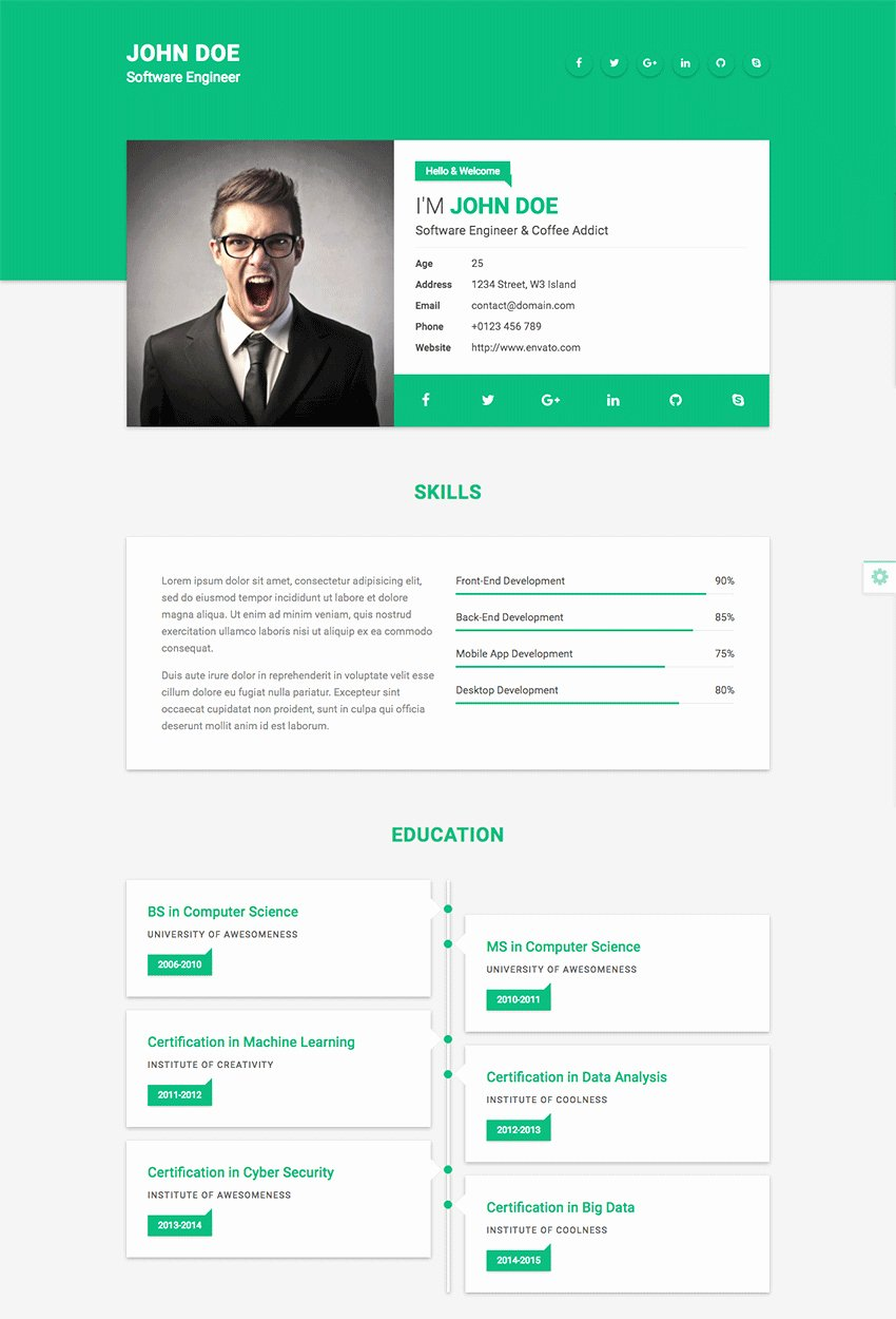Free Resume Website Template Best Of 20 Resume Website Template Free – Diocesisdemonteria