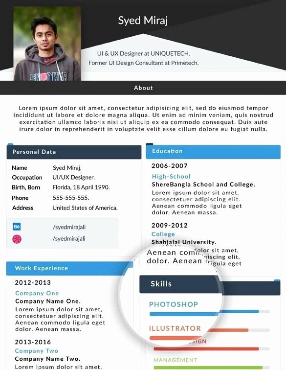 Free Resume Website Template Fresh 130 New Fashion Resume Cv Templates for Free Download