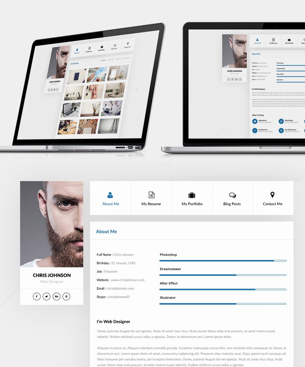 Free Resume Website Template Fresh Download Free Resume and Portfolio Website Templates Free