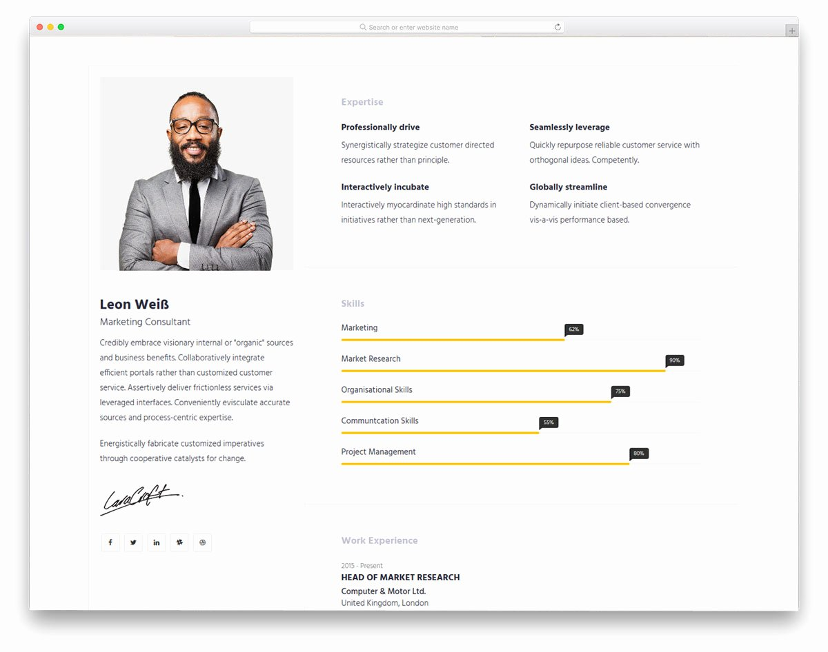Free Resume Website Template Lovely 25 Best Free Personal Website Templates for Professionals