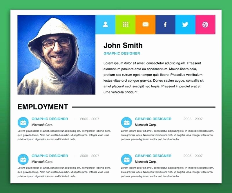 Free Resume Website Template Lovely Personal Website Resume Template Blog Resume Portfolio