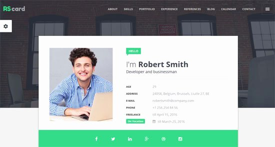 Free Resume Website Template New 45 Best HTML Resume Cv Vcard Templates Free & Premium