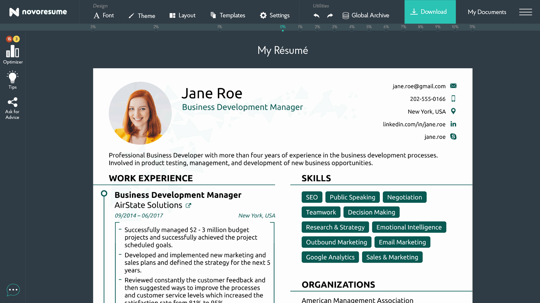 Free Resume Website Template New Free & Standard Line Resume Builder