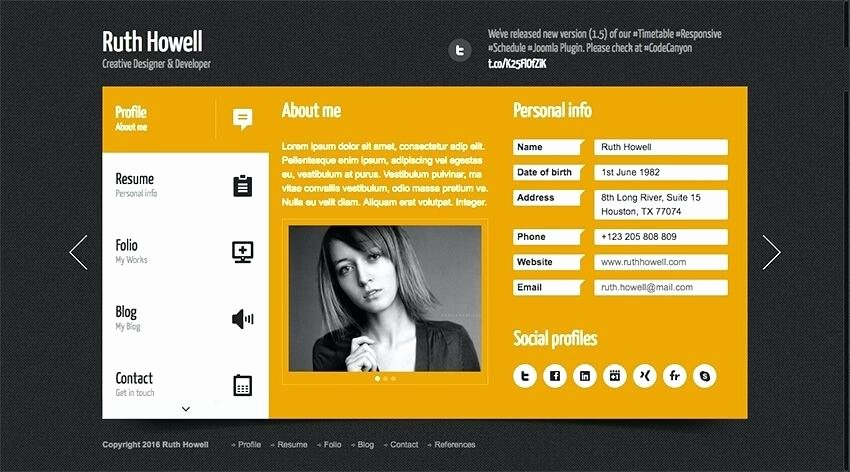 Free Resume Website Template Unique Personal Website Resume Template Get Personal Resume