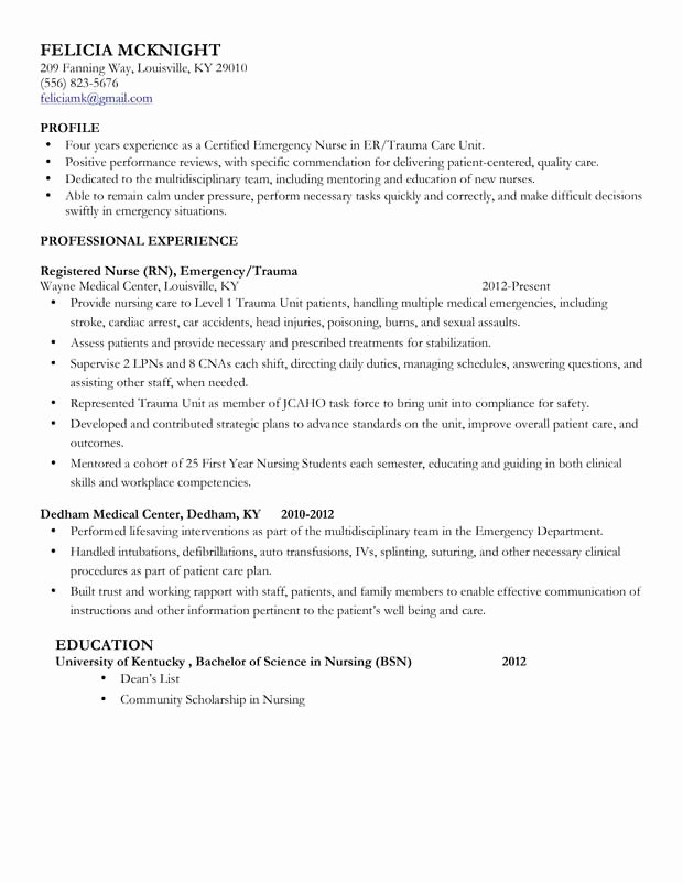 Free Rn Resume Template Beautiful Best Registered Nurse Resume Example