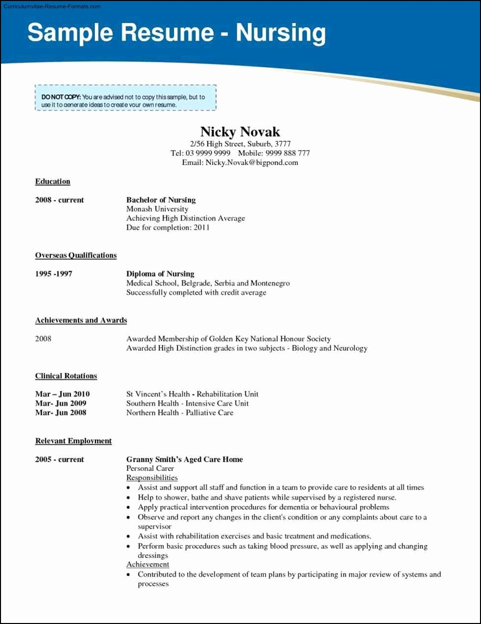 Free Rn Resume Template Best Of Nursing School Resume Template Free Samples Examples