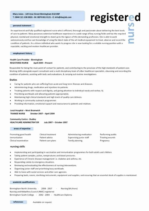 Free Rn Resume Template Inspirational Free Professional Resume Templates