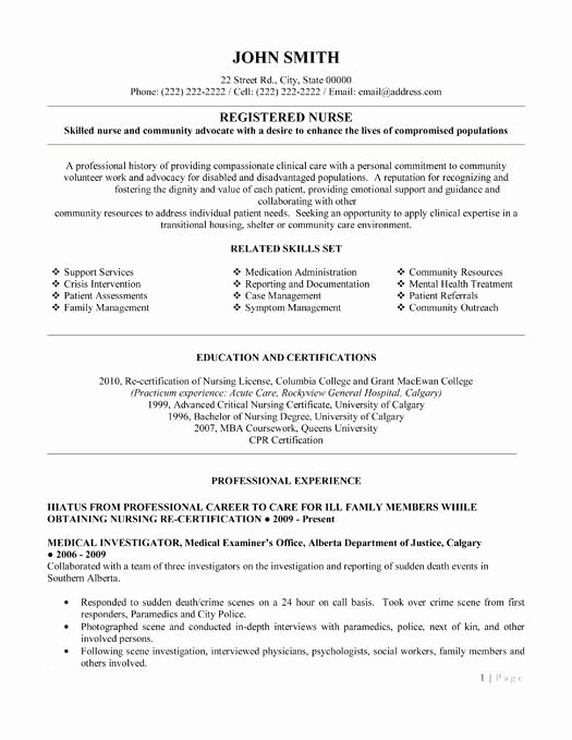Free Rn Resume Template Inspirational Here to Download This Registered Nurse Resume