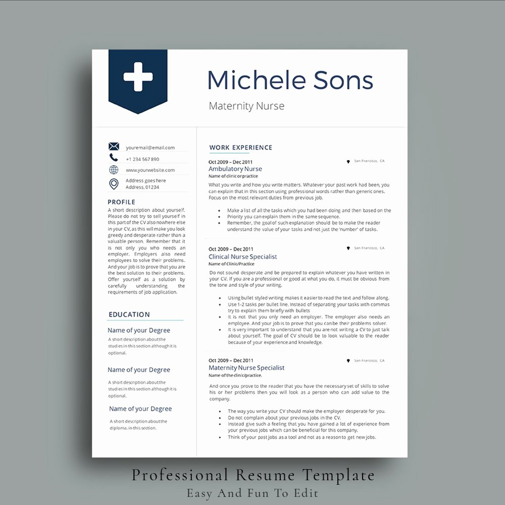 Free Rn Resume Template Unique Professional Nurse Resume Template Resume Templates