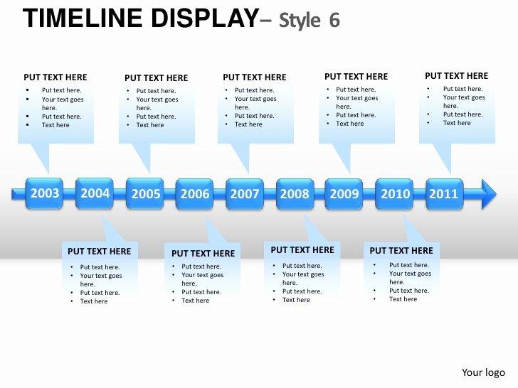 Free Roadmap Template Powerpoint Beautiful Roadmap Timeline Display Style 6 Powerpoint Presentation