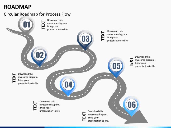 Free Roadmap Template Powerpoint Luxury Free Roadmap Powerpoint Template Bountrfo