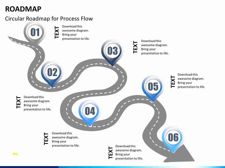 Free Roadmap Template Powerpoint Luxury New Roadmap Powerpoint Template Free