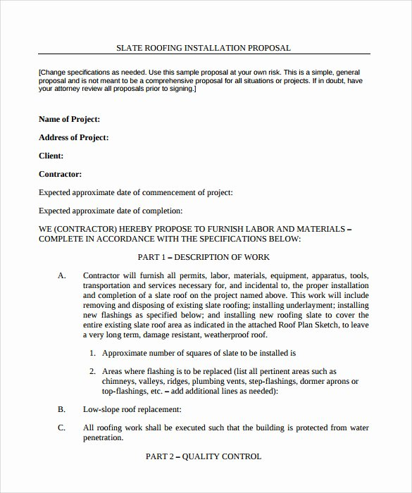 Free Roofing Contract Template Awesome Roofing Contract Template 9 Download Documents In Pdf