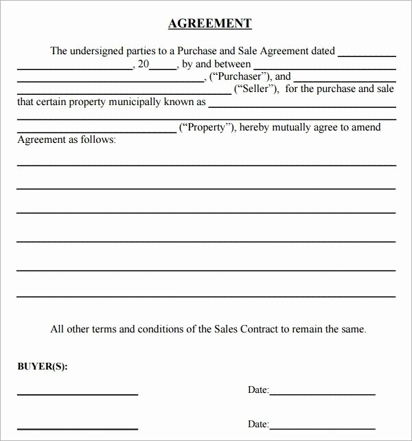 Free Sales Agreement Template Awesome Simple Sales Agreement