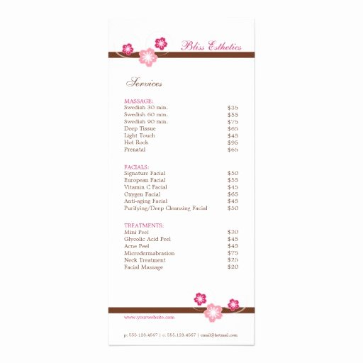 Free Salon Menu Template Awesome 10 Best Of Double Sided Postcard Template Double