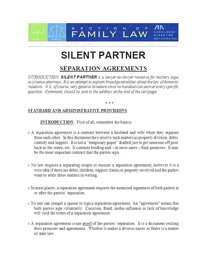 Free Separation Agreement Template Beautiful Free Separation Agreement Template south Africa Ficial