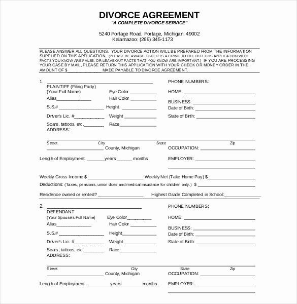 Free Separation Agreement Template New Divorce Decree Template Uk Templates Resume Examples