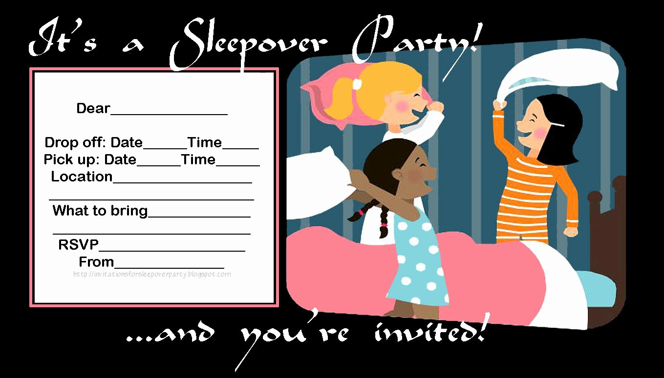Free Sleepover Invitation Template Awesome Slumber Party Invitation Templates