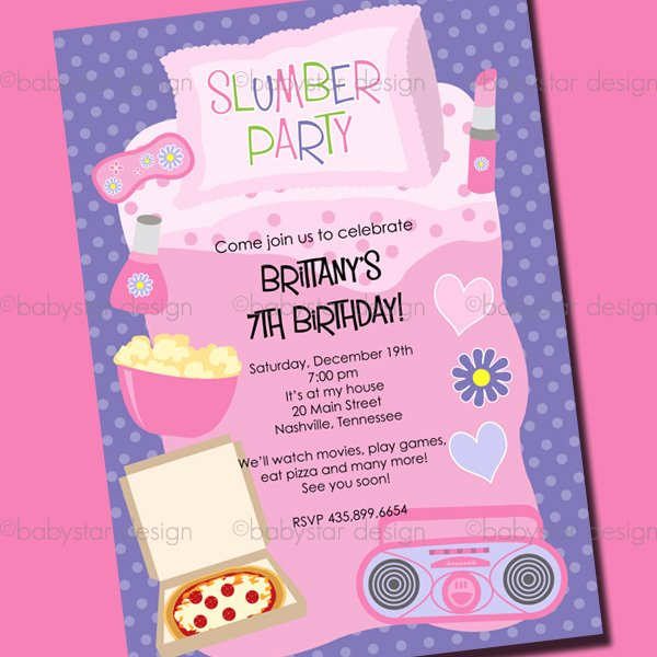 Free Sleepover Invitation Template Best Of Slumber Party Invitations Templates Free