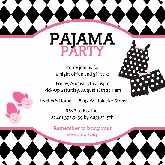 Free Sleepover Invitation Template Elegant Sleepover Party Invitations Template