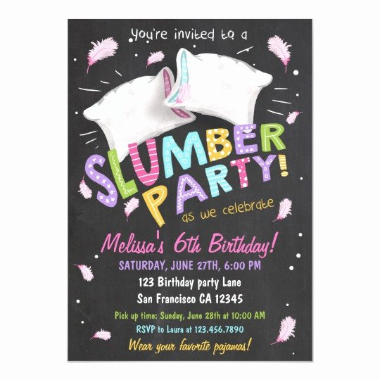 Free Sleepover Invitation Template Fresh Slumber Party Pajamas Sleepover Invitation