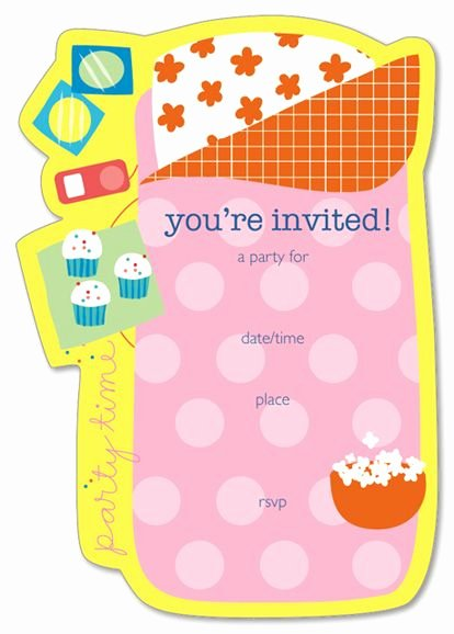 Free Sleepover Invitation Template Inspirational Free Printable Slumber Party Invitation for Kids
