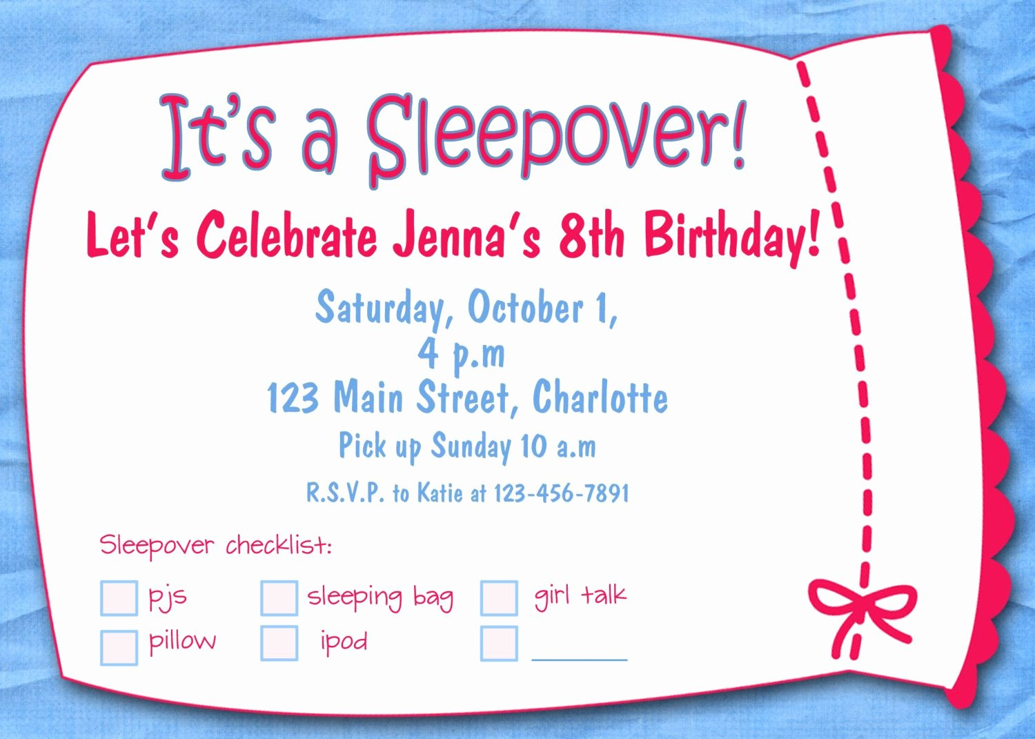 Free Sleepover Invitation Template Luxury Free Printable Sleepover Birthday Party Invitations Girls