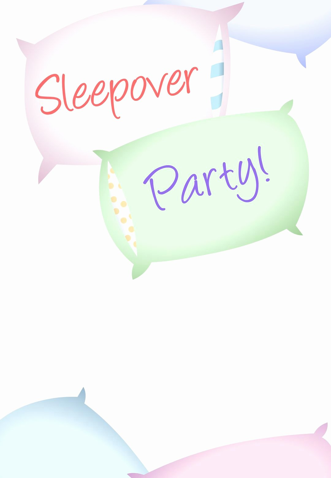 Free Sleepover Invitation Template Luxury Free Printable Sleepover Party Invitation