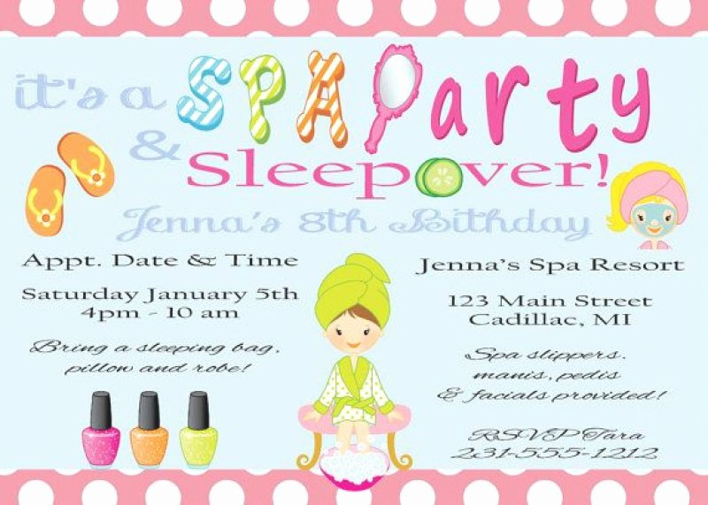 Free Sleepover Invitation Template Luxury Free Printable Sleepover Spa Invitation – orderecigsjuicefo