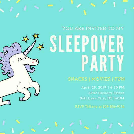 Free Sleepover Invitation Template Unique Customize 60 Sleepover Invitation Templates Online Canva