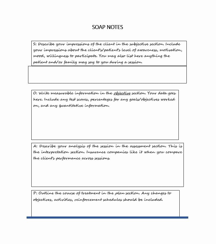 Free soap Note Template Best Of 40 Fantastic soap Note Examples & Templates Template Lab