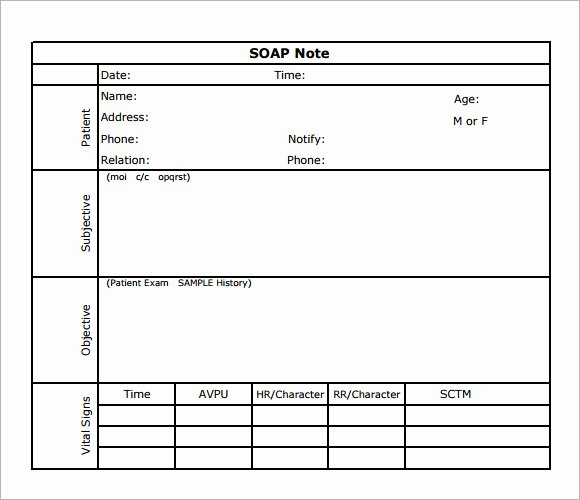 Free soap Note Template Inspirational soap Note Template 7 Download Free Documents In Pdf