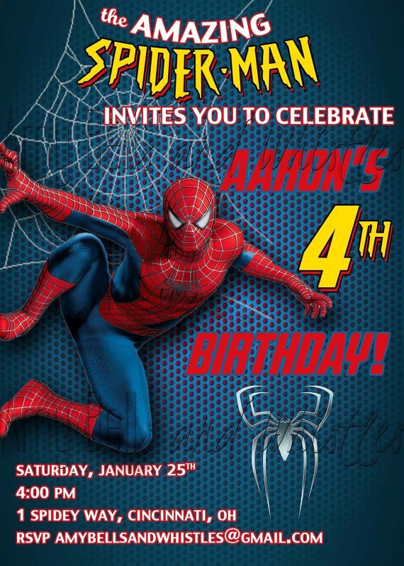Free Spiderman Invitation Template Beautiful Spiderman Birthday Invitation Custom Personalized