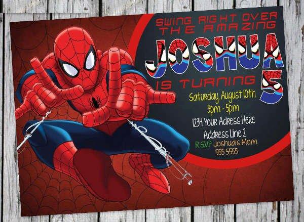 Free Spiderman Invitation Template Best Of 69 Printable Birthday Invitation Templates Word Psd