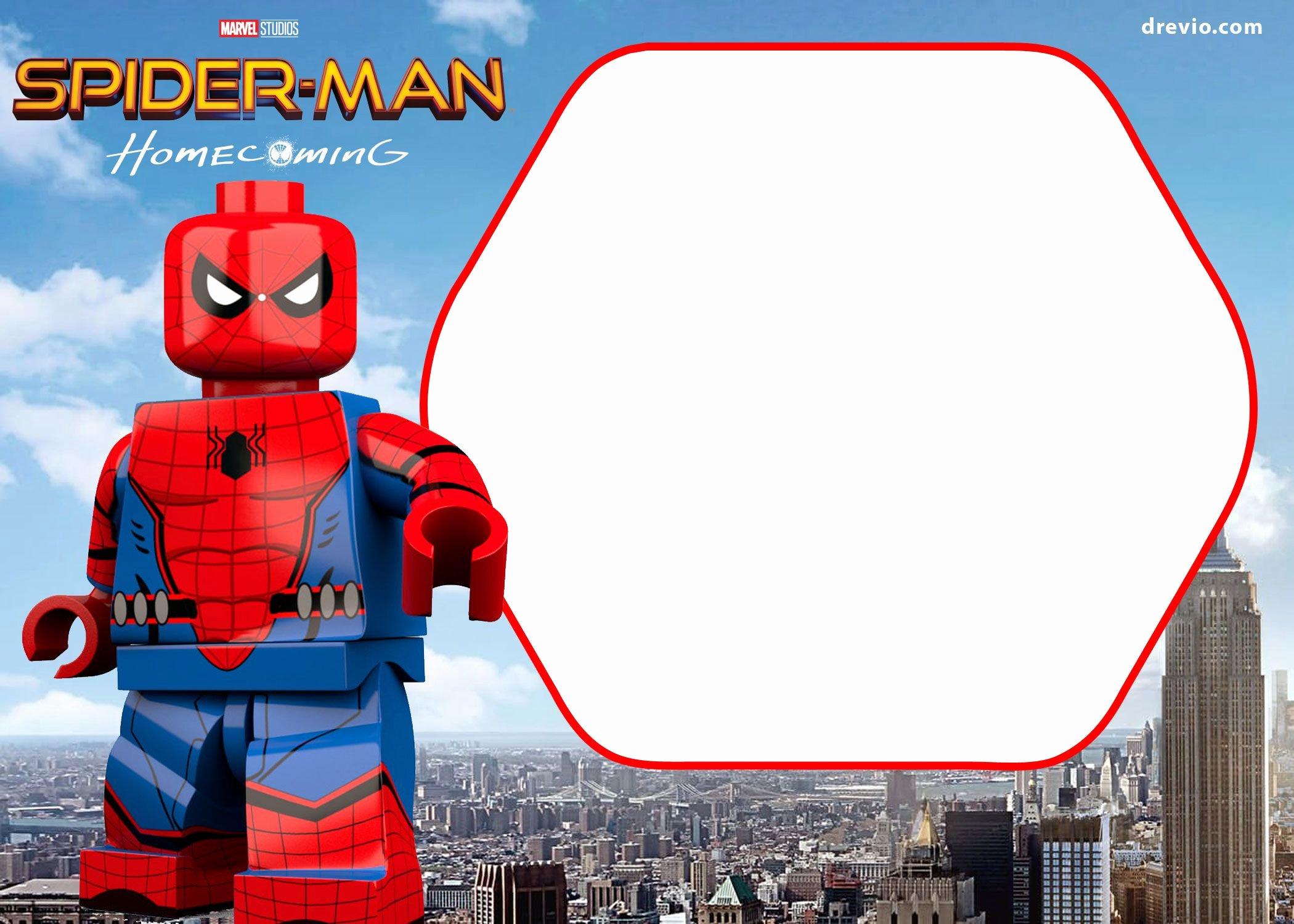 Free Spiderman Invitation Template Elegant Awesome Free Spiderman Home Ing Invitation Template