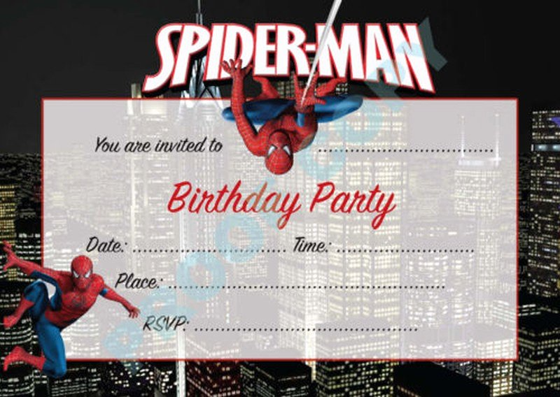 Free Spiderman Invitation Template Elegant Impress Your Guests with these Spiderman Birthday Invitations