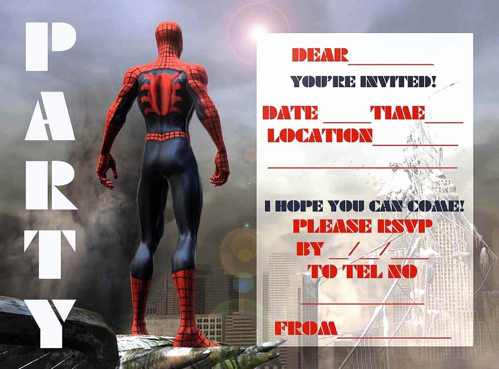 Free Spiderman Invitation Template Elegant Spiderman Free Printable Invitation Templates