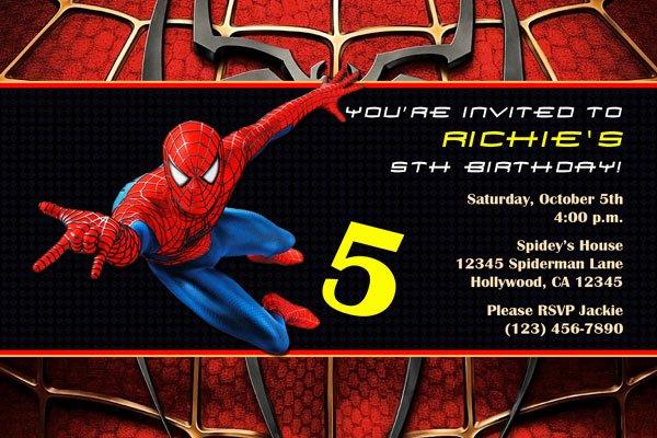 Free Spiderman Invitation Template Elegant Spiderman Invitations General Prints