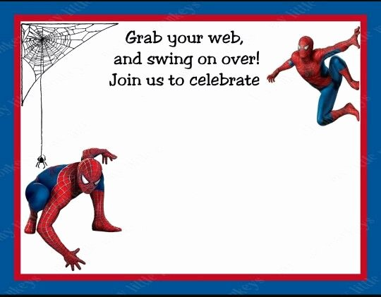 Free Spiderman Invitation Template Fresh 15 Best Images About Spiderman Party On Pinterest