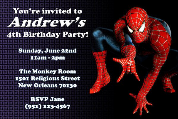 Free Spiderman Invitation Template Inspirational 58 Sample Birthday Invitation Templates Psd Ai Word