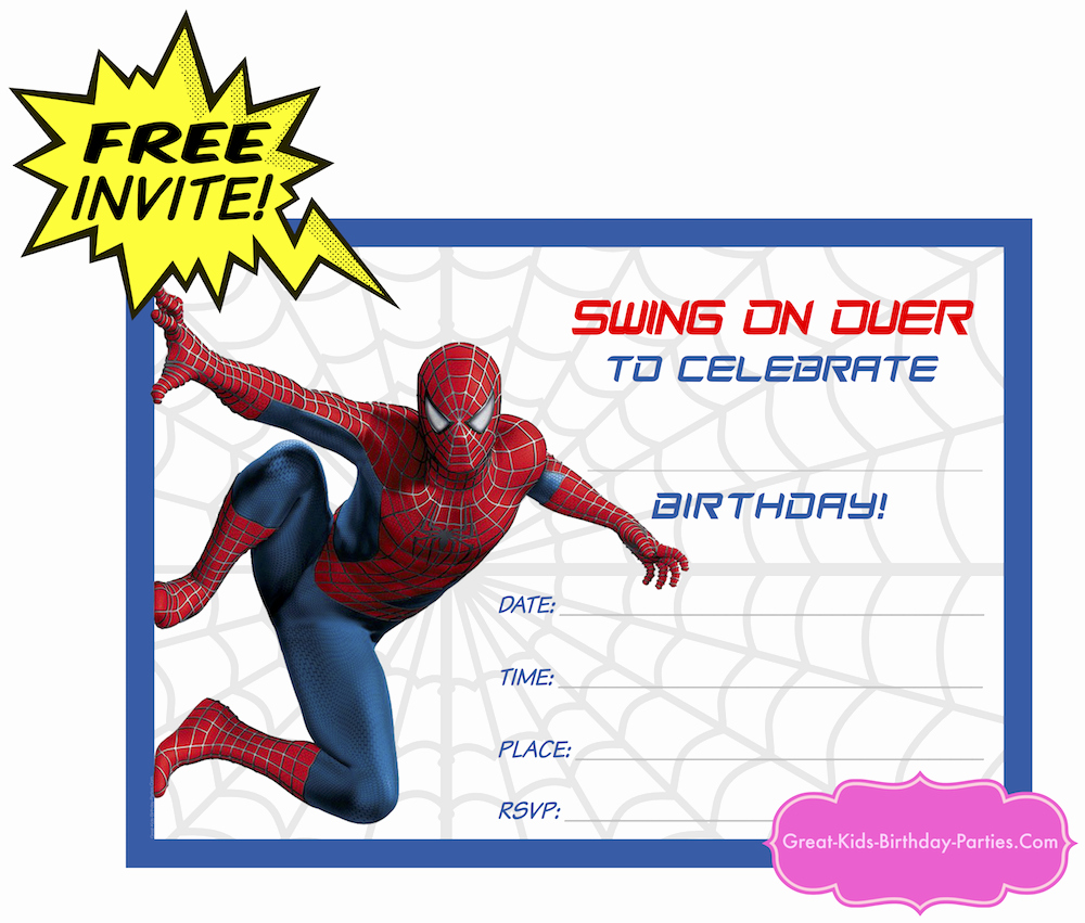Free Spiderman Invitation Template Inspirational Looking for Ideas for Kids Birthday Parties