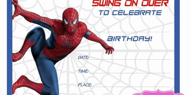 Free Spiderman Invitation Template New Spiderman Birthday Invitation Template Free
