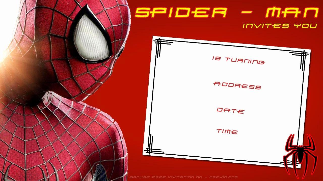 Free Spiderman Invitation Template Unique Free Printable Blank Spiderman Birthday